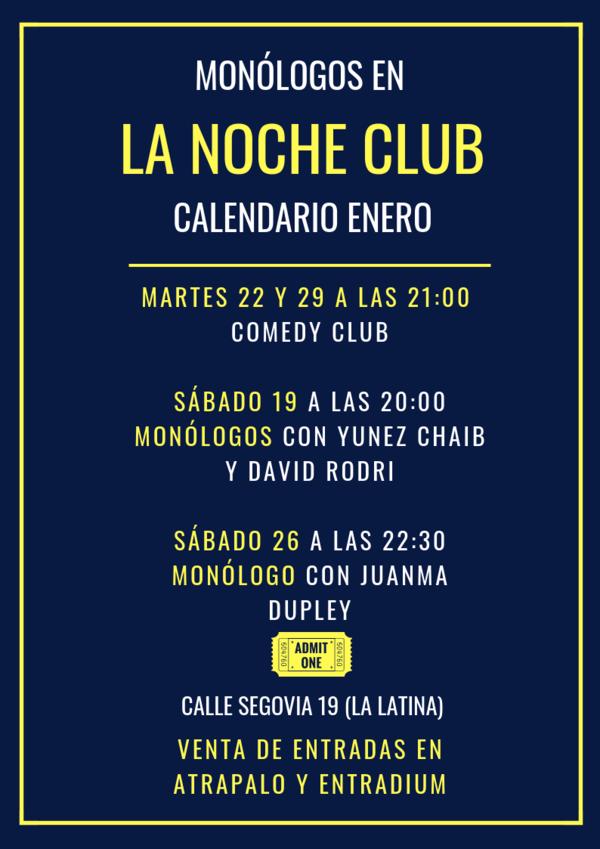 Calendario Atrapalo.Monologo Yunez Chaib David Rodri En Madrid