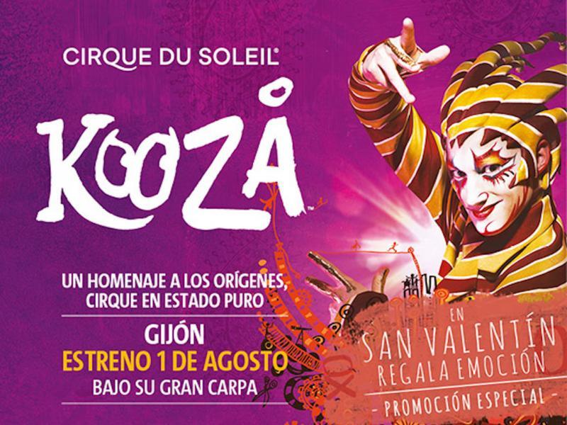 0fb47dfe078a0 KOOZA Cirque du Soleil en Gijón - Oferta San Valentín - 10% descuento